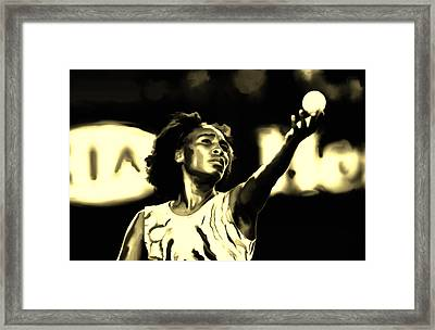 Venus Williams Match Point Framed Print by Brian Reaves