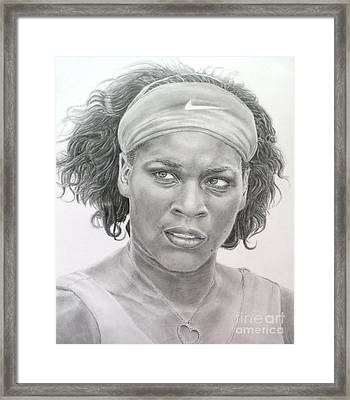 Venus Williams Framed Print by Blackwater Studio