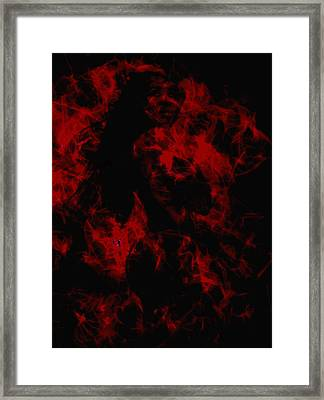 Venus Williams On Fire Framed Print