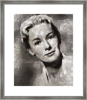 Vera Miles, Actress Framed Print by Mary Bassett