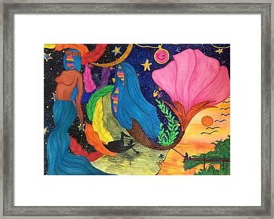 Veracious Angelic Tale. Framed Print by Tejsweena Renu Krishan
