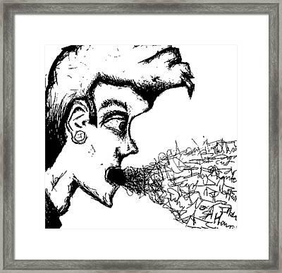 Verbal Vomit Framed Print