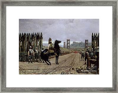 Vercingetorix Before Caesar Framed Print by Henri Paul Motte