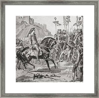 Vercingetorix The Gallic Leader Throws Framed Print