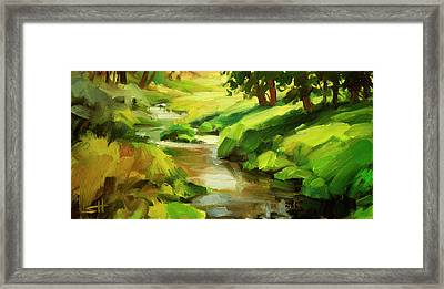 Verdant Banks Framed Print