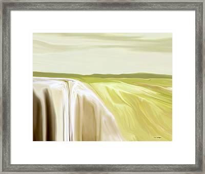 Verdant Cliffs Framed Print by Tim Stringer