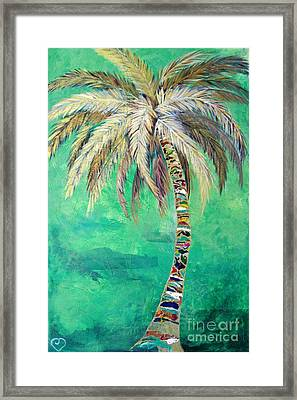 Verdant Palm Framed Print