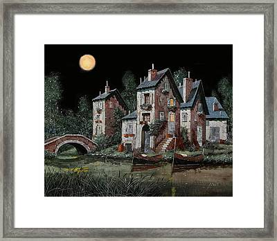 Verde Notturno Framed Print by Guido Borelli