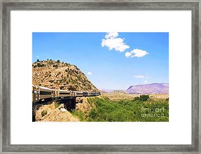 Verde Valley Train  Framed Print