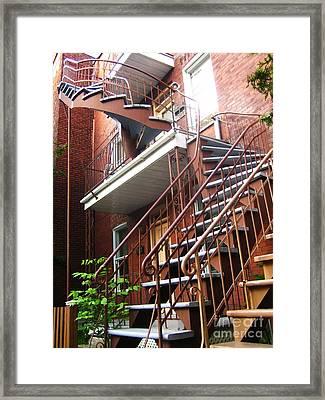 Verdun Stairs Framed Print