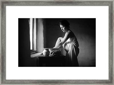 Vermeer Footwasher Framed Print