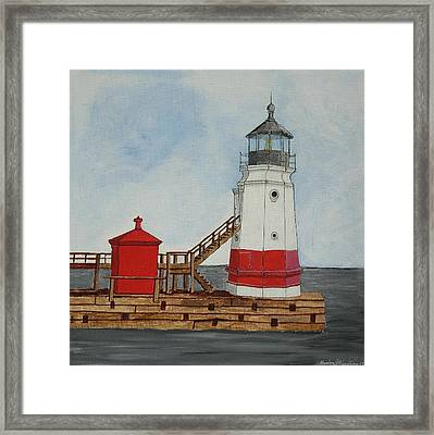 Vermilion Ohio Lighthouse Framed Print by Gordon Wendling