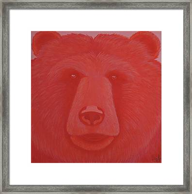Vermillion Bear Framed Print