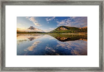Vermilion Reflections Framed Print