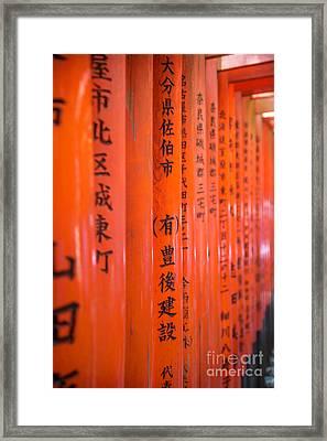 Vermillion Torii I Framed Print