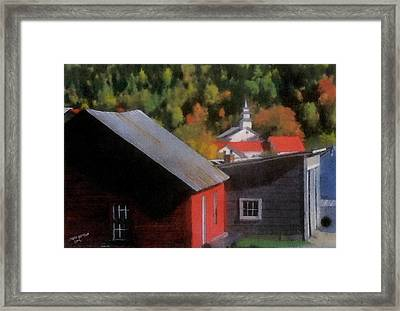 Vermont Again Framed Print