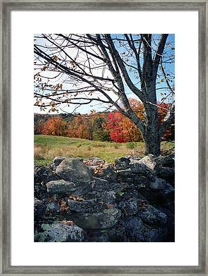 Vermont Autumn Framed Print