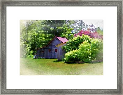 Vermont Barn 2 Framed Print by Terry Davis