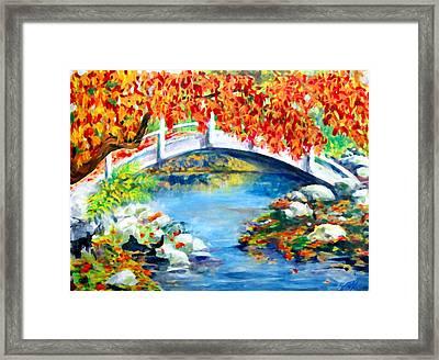 Vermont Bridge Framed Print by Lyn Vic