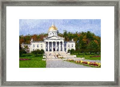 Vermont Capital Framed Print by Ralph Liebstein