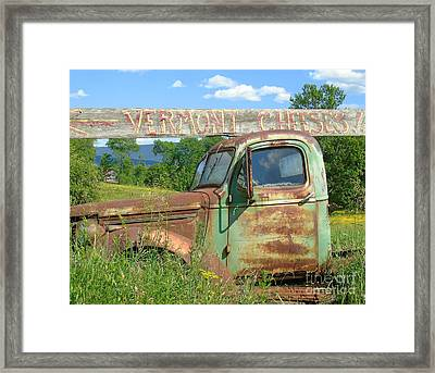 Vermont Cheese Framed Print by Susan Lafleur