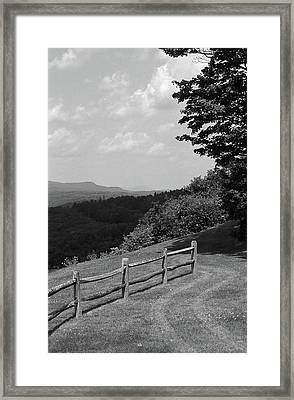 Framed Print featuring the photograph Vermont Countryside 2006 Bw by Frank Romeo