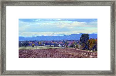 Vermont Countryside In Autumn Framed Print by Catherine Sherman