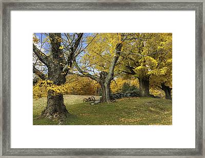 Vermont's Rural Countryside Framed Print