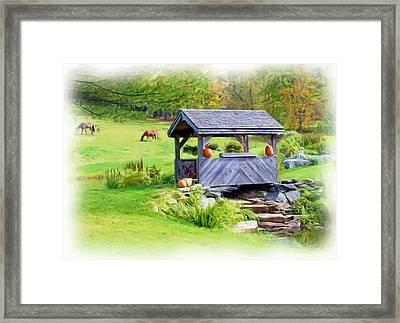 Vermont-countryside Framed Print by Ralph Liebstein