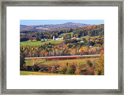 Vermont Countryside View Pownal Framed Print by John Burk