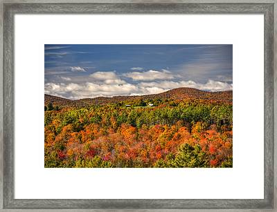 Vermont Fall Foliage  Framed Print by Joann Vitali