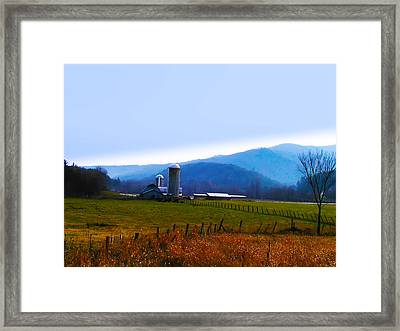 Vermont Farm Framed Print by Bill Cannon