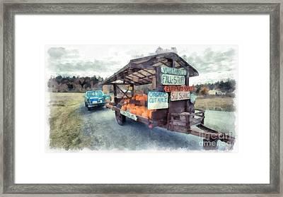 Vermont Farm Stand Framed Print