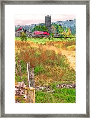 Vermont Farmland 3 Framed Print by Steve Ohlsen