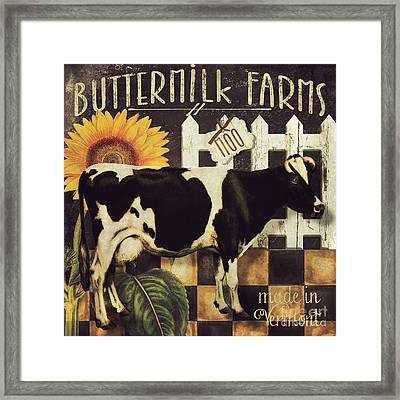 Vermont Farms Cow Framed Print