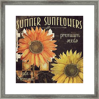 Vermont Farms Sunflowers Framed Print by Mindy Sommers