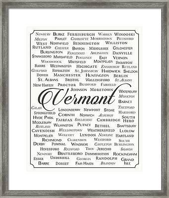 Vermont Framed Print by Finlay McNevin