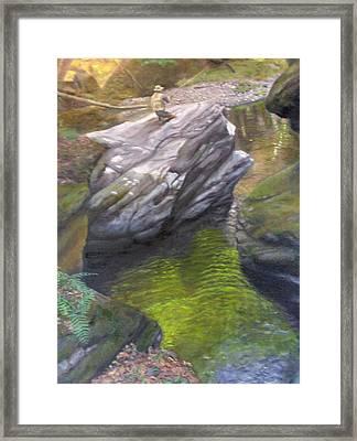 Vermont Fisherman Framed Print by Laurel Ellis