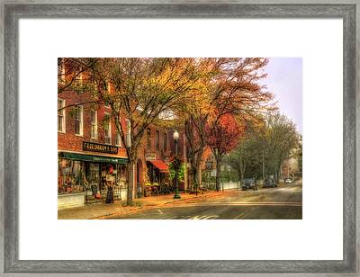 Vermont General Store In Autumn - Woodstock Vt Framed Print by Joann Vitali