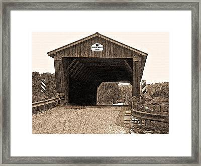 Vermont Gorham Bridge Framed Print by Steve Ohlsen