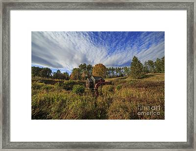 Vermont Grist Mill Panoramic Framed Print by Edward Fielding