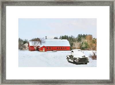 Framed Print featuring the digital art Vermont Memories by Sharon Batdorf