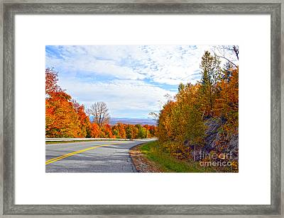 Vermont Mountain Road Framed Print by Catherine Sherman
