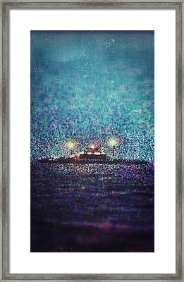 Vermont Ny Champlain Ferry Framed Print by Michael French