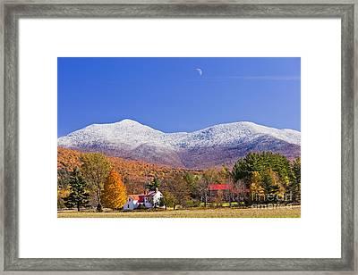 Vermont October Moonrise Framed Print