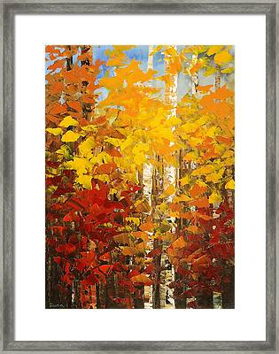Framed Print featuring the painting Vermont Palette by Tatiana Iliina