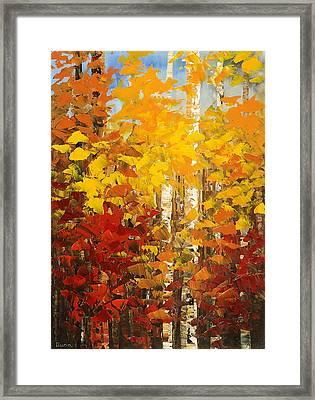 Vermont Palette Framed Print