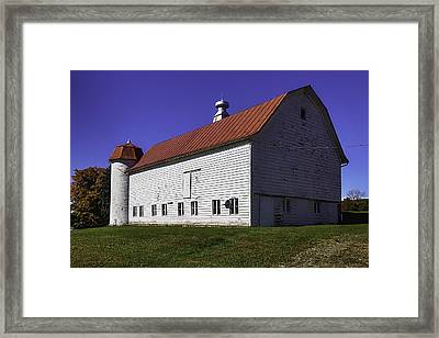 Vermont Red Barn Framed Print by Garry Gay