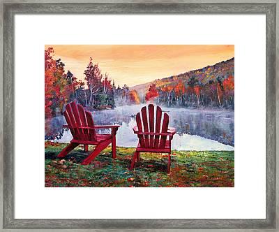 Vermont Romance Framed Print by David Lloyd Glover