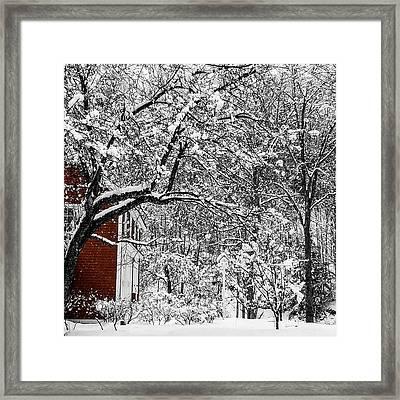 Vermont Snow Day Framed Print by Karen Schepartz